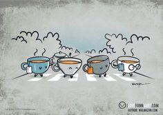 "Two English symbols at a time! ""Let it Tea"" by Wenceslao Almazan 'aka' Walmazan  http://www.facebook.com/ILoveFunnyArt"