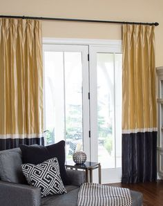 Color block silk drapes - like these but with different colors