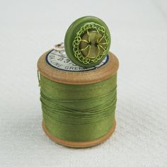 #Vintage #button ring with wire handstitching by Judith Brown Jewellery (me!)