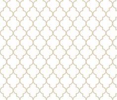 Khaki Ogee fabric by liasteele on Spoonflower - custom fabric