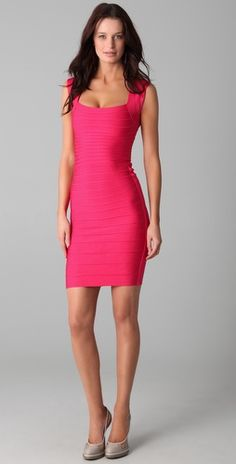 b95c530f4bdc Herve Leger Signature Essentials Square Neck Dress...as seen on Emily  Maynard the