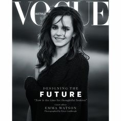 Emma on the current issue of Australian Vogue cover