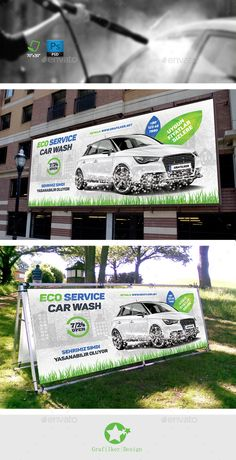 Eco Car Wash Billboard Templates by Eco Car Wash Flyer Templates Fully Dpi, CMYKIDML format openIndesign or laterCompletely editable, print ready Te