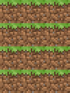 Minecraft Grass Block - 18 - fabric for Ben's pillowcases. Minecraft Beads, Minecraft Pattern, Minecraft Wall, Minecraft Houses, Quilting Room, Quilting Tips, Minecraft Birthday Party, Mini Craft, Backgrounds