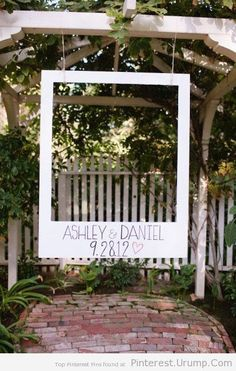 Giant oversized polaroid frame great for weddings by 3QUEENSANDME