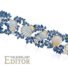 Jean Schlumberger for @tiffanyandco Shell bracelet in #platinum and #gold set with #diamonds #sapphires and #emeralds #jeanschlumberger #tiffanyandco #revival #jewelry
