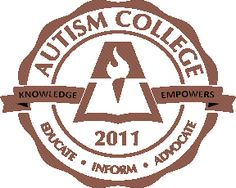 Autism College Seal - Educate, Inform, Advocate