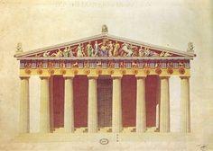 Partenone - fronte orientale (colore)