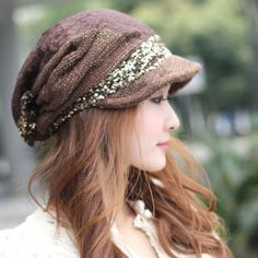 Free Shipping, in style and beautiful woolen knitted women's caps,warm autumn and winter thickened hats. $20.26