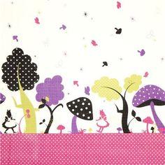 fairy tale fabric Alice in Wonderland by Kokka fabric