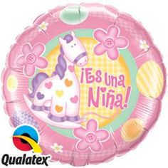 Es Una Nina Balloons Spanish It's a Girl Balloons by PartySurprise