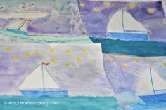 Artful Homemaking: My Blue Boat {Before Five in a Row}