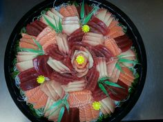Another Ahi, Hamachi and Salmon sashimi platter Meat Recipes, Asian Recipes, Sushi, Salmon Sashimi, I Want To Eat, Food Menu, Japanese Food, Platter, Food And Drink