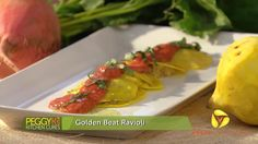 Gluten-Free Beet Ravioli With Roasted Pepper Sauce - Veria Living