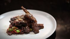 Alex & Emily's Lamb Ribs with Wild Rice Lamb Recipes, Dinner Recipes, Savoury Recipes, Yummy Recipes, My Kitchen Rules, Cooking Wild Rice, Lamb Ribs, Ginger And Honey, Slow Food