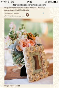 Love these for table numbers x