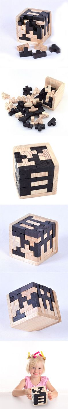 3D Russia Ming Luban Interlocking Wooden Puzzle IQ Brain Teaser Burr IQ Puzzles Toy for Adults Children Kids $4.68