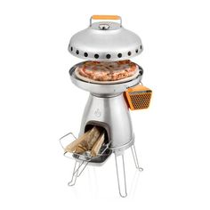 Cook up pizzas, flatbreads, and other favorites with this three-piece system designed exclusively for the BaseCamp Stove. An integrated thermometer monitors your temperatures while the foodsafe ceramic stone keeps foods crisp and evenly cooked. - $69.95