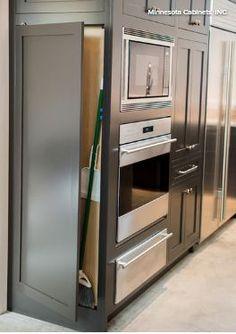 Image result for broom cabinet