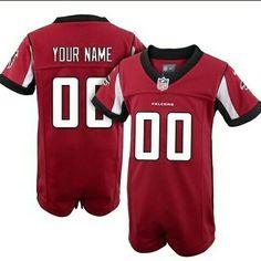 Nike Atlanta Falcons Newborn Customized Team Color Game Jersey Creeper #nike #atlantafalcons #atlanta #falcons #newborn #redjerseys #nfl #nflcombine #nfljerseys #red #creeper #forsale #smile #tbt #pic #