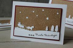 Weihnachtskarte Schlittenfahrt, Bild3, gebastelt mit Produkten von Stampin' Up!