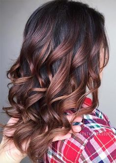 Rose Brown Hair Trend: Rose Brown Hair Colors Ideas hair makeup Rose Brown Hair Trend: 23 Magical Rose Brown Hair Colors to Try Hair Colour For Green Eyes, Hair Color Dark, Ombre Hair Color, Hair Color Balayage, Brown Hair Colors, Dark Hair, Brunette Color, Blonde Brunette, Green Hair