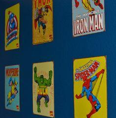 superhero nursery | vintage superhero nursery | You + Me = 3