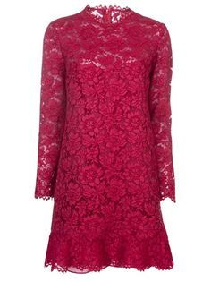 VALENTINO Ruffled Lace Dress