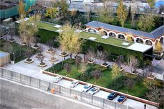 "The project is a ""temporary"" Green Technology Showroom of 3-year use for one of CR Land's (华润置地) residential projects in Beijing. The idea is to develop the concept of ""Temporary"" from a meaningful perspective, to design a piece of floating ""installation"" in the garden, which could be built, demolished, and recycled through an easy and straightforward way with the least impact to the planned site."
