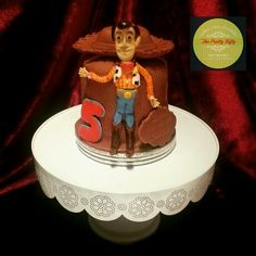 Woody cake with edible Woody doll and hat