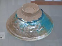 turquoise bowl with iridescence, Iran, probably Kashan, before 1220, V&A, Victoria & Albert Museum, London (photo taken September, 30th 2009 by Blume-Werry, Juergen)