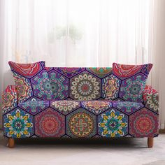 Eclectic Sofas, Eclectic Style, Loveseat Covers, Loveseat Slipcovers, Couch Sofa, Cushion Covers, Old Sofa, Beautiful Sofas, Unique Home Decor