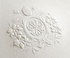 embossing is an elegant technique especially used for wedding invites or high brand products