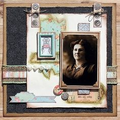 """42 Likes, 2 Comments - Scrapbook Adhesives by 3L (@scrapbookadhesivesby3l) on Instagram: """"Do you have vintage photos? @scrappychick101 shares a HERITAGE SCRAPBOOK LAYOUT using Premium…"""" #scrapbooking101"""