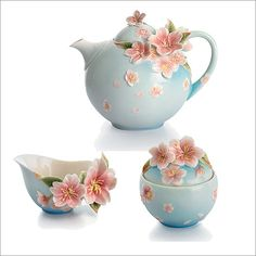 Image detail for -... by Franz Collection Cherry Blossom Floral Porcelain Tea Set - FZ01XXX