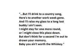 Ain't Worth the Whiskey - Cole Swindell