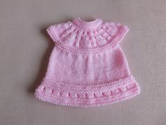 This sweet little dress is now in three premature baby sizes ~ small, medium and large Lazy Daisy All-in-One Baby Dresses ~ . Knitted Doll Patterns, Hat Patterns To Sew, Baby Dress Patterns, Crochet Patterns, Baby Cardigan Knitting Pattern, Baby Hats Knitting, Baby Knitting Patterns, Free Knitting, Vest Pattern
