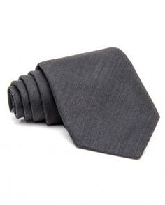 Image of Kiton Charcoal Solid Tie