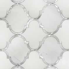 Dolomite Arabesque Framed in Mother of Pearl Shell Waterjet Mosaic Tile Marble Wall, Marble Mosaic, Mosaic Tiles, Wall Tiles, Mosaic Art, Arabesque Tile Backsplash, Mosaic Mirrors, Marble Stones, Stone Tiles