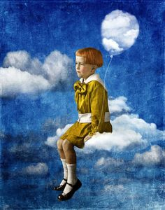 Beth Conklin -- The sky is full of dreams, but you don't know how to fly here on earth: November 2013 Digital Collage, Collage Art, Digital Art, Ephemeral Art, Magazine Collage, Realism Art, Whimsical Art, Surreal Art, Medium Art