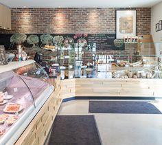 LEMAYMICHAUD   INTERIOR DESIGN   ARCHITECTURE   QUEBEC   Mamie Clafoutis   Restaurant   Bakery Destinations, Sidewalk, Restaurant, Architecture, Design, Dreams, Arquitetura, Side Walkway, Diner Restaurant