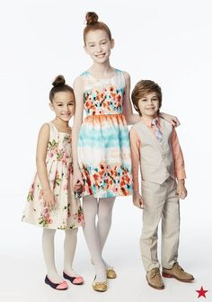 """Easter is just around the corner. Find the perfect floral dresses and pastel suits for your little guys and gals and get ready to say, """"Cheese!"""""""