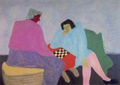 "slentando: milton avery ""checker players"" (1943)"