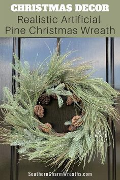 Decorate your front door this Christmas with a beautiful frosted evergreen wreath from Southern Charm Wreaths.  This is one that will also look very nice inside your home whether it is above a fireplace or in your entryway.  Leave it up through the winter months for your winter decor!