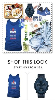 """""""TeeLime"""" by mirecr7 ❤ liked on Polyvore featuring Movado, NIKE, men's fashion, menswear and teelime"""