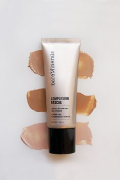 Treat yourself to just the right amount of coverage for a dewy, natural-looking, radiant glow. Meet Complexion Rescue™ Tinted Hydrating Gel Cream, the #1 Prestige Beauty Launch of 2015. A multi-tasking genius that combines skincare benefits and naturally radiant coverage in one. The best of a BB, a CC, and a tinted moisturizer, Complexion Rescue is available in 16 shades on bareMinerals.com