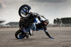 BMW Motorrad Stunt Rider Mattie Griffin..sweet