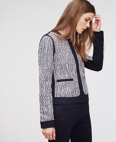 Image of Tweed Piped Jacket