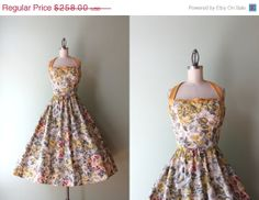 STOREWIDE SALE 50s Party Dress / Vintage 1950s by HolliePoint, $193.50