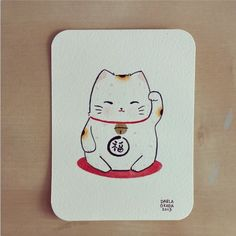 FrenchRuby [inspiration] | twoblackcatsstudio: Mini maneki neko...